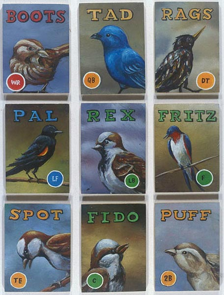 Aviary #3 - 9 Birds, David Lefkowitz, 2004