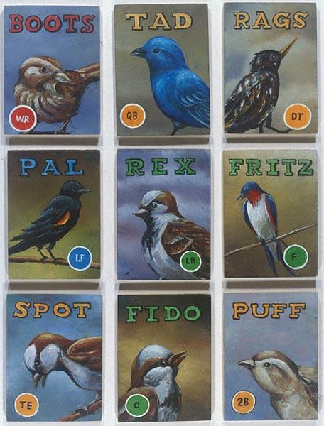 Aviary #3 - 9 Birds, David Lefkowitz, 2004