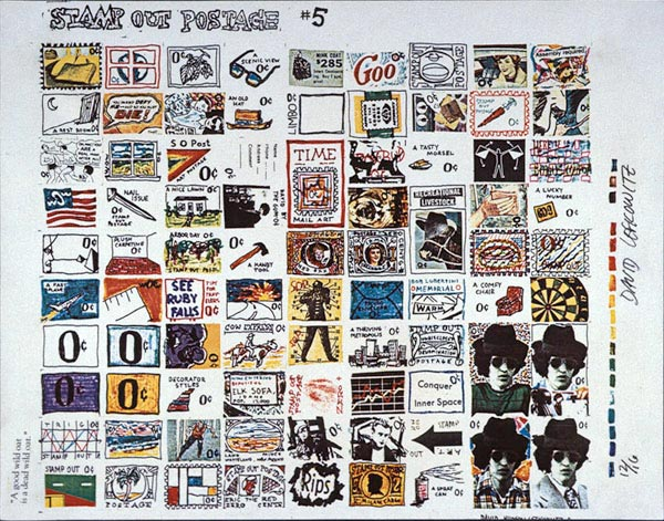 Stamp Out Postage #5, David Lefkowitz, 1980