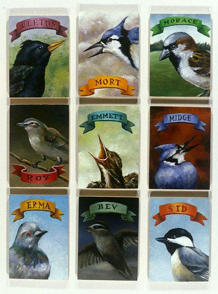 Aviary #1 - 9 Birds, David Lefkowitz, 2002