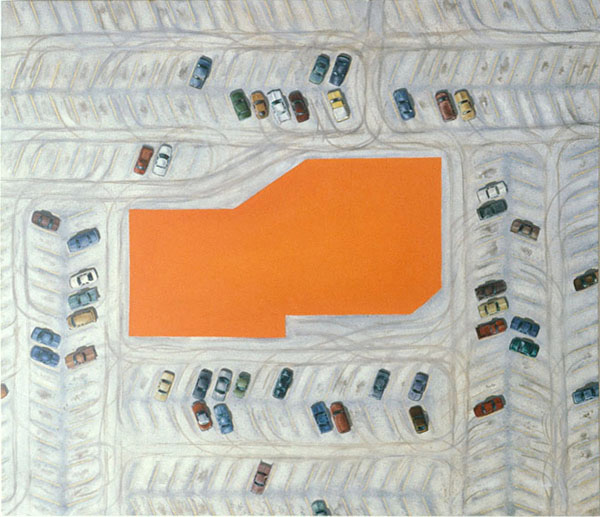 Monochrome Painting with Ample Parking, David Lefkowitz, 1994