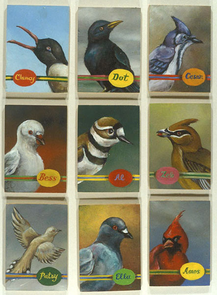 Aviary #2 - 9 Birds, David Lefkowitz, 2003