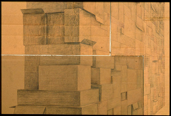 Adrian's Wall (detail), David Lefkowitz, 2000
