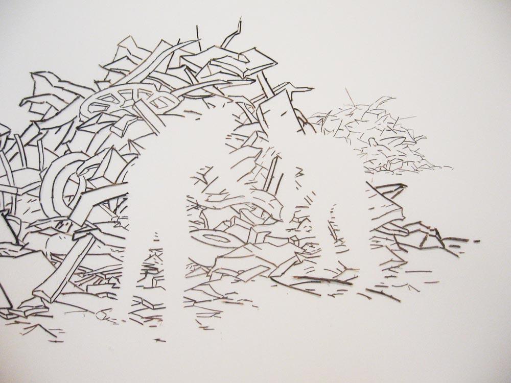 Debris Pile (detail), David Lefkowitz, 2009