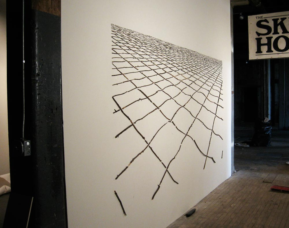 Topographical Matrix (installation view), David Lefkowitz, 2008