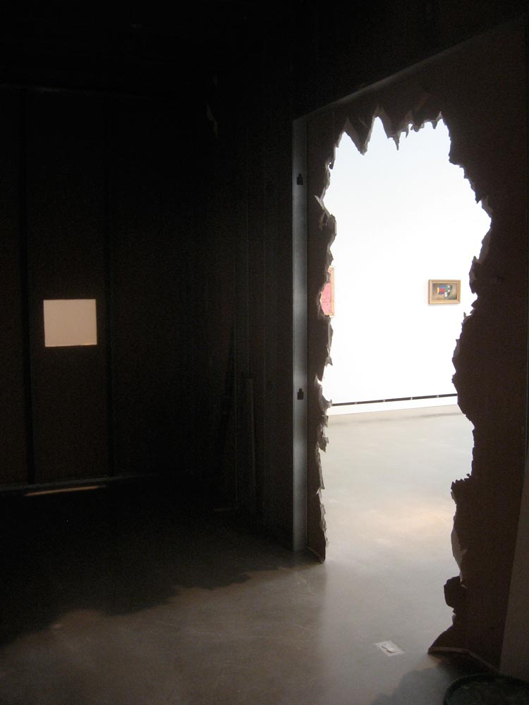 Gallery (installation view), Other Positioning Systems, Rochester Art Center, MN, David Lefkowitz, 2009