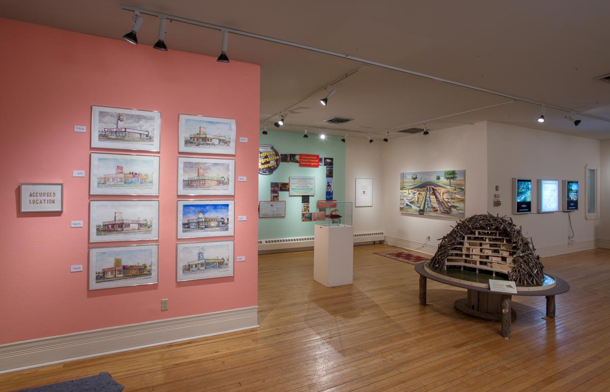 Nirthfolde Visitors&#039; Bureau,<br /> installation view 2, David Lefkowitz, 2013